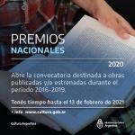 Premios Nacionales en Ciencias, Artes y Letras 2020